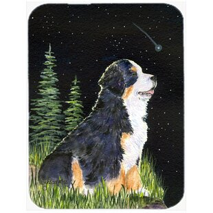 Starry Night Bernese Mountain Dog Glass Cutting Board By Caroline's Treasures