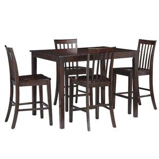 Rolle 5 Piece Pub Table Set Charlton Home