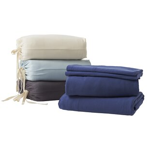 Jersey 4 Piece Solid Color 100% Cotton Sheet Set