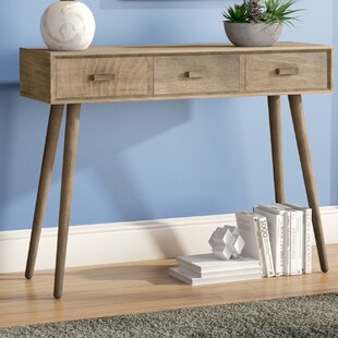 Beem 3 Drawer Console Table by Mercury Row