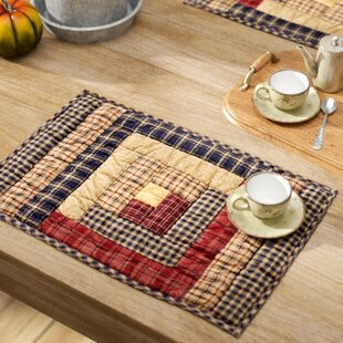 Lorena Log Cabin Block Quilted Placemat (Set of 6)