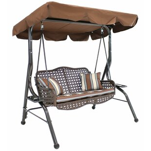 Freeport Park Dontae Seater Rattan Porch Swing with Stand