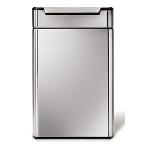 Stainless Steel 12.1 Gallon Touch Top Trash Can