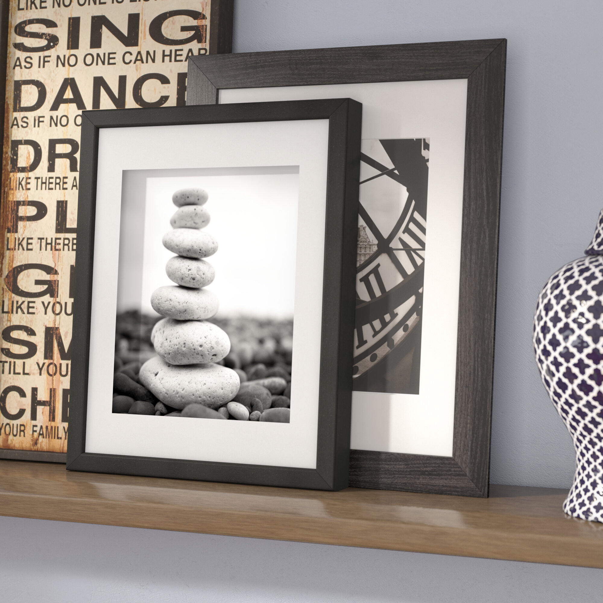Symple stuff shadow box display case picture frame reviews wayfair jeuxipadfo Image collections