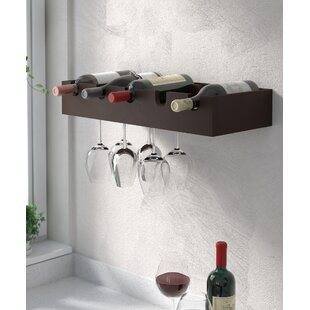Red Barrel Studio Cheever 5 Bottle Wall Mounted Wine Rack