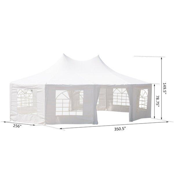 Outsunny 29 17 Ft W X 21 25 Ft D Steel Party Tent Reviews Wayfair