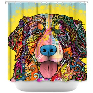 Compare & Buy Bernese Mountain Dog Shower Curtain ByDiaNoche Designs