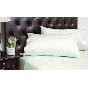 Alcott Hill Merrionette Organic Sateen 350 Thread Count 100% Cotton Sheet Set (Set of 4)