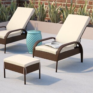 Wade Logan Banker Patio Chair with Cushion