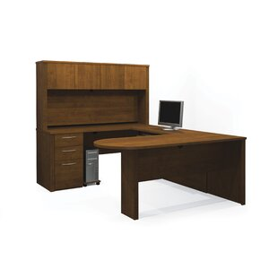 Karyn Reversible U-Shape Executive Desk with Hutch