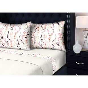 Vitiello 3 Piece Floral Sheet Set