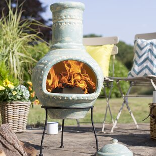 Brandi Clay Wood Burning Chiminea By Sol 72 Outdoor