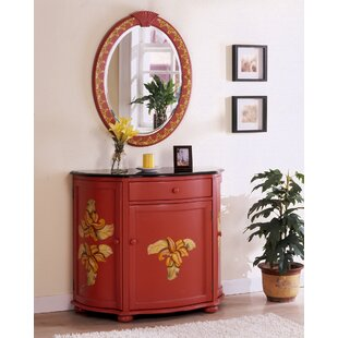 Bay Isle Home Spillane Hand-Painted Vanity with Mirror