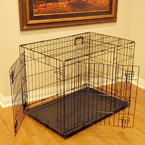 Double Door Folding Pet Crate