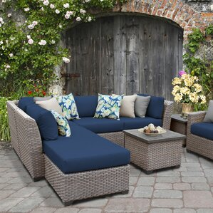 Superior Florence Outdoor Wicker 8 Piece Sectional Seating Group With Cushion