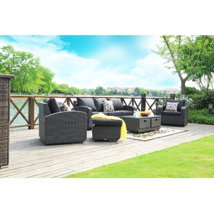 Ovellette 5 Piece Sofa Seating Group Set with Cushions