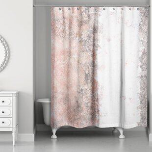 Aspasia Marble Single Shower Curtain