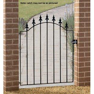 Pinkley Spear Top Low Bow Garden Metal Gate By Rosalind Wheeler