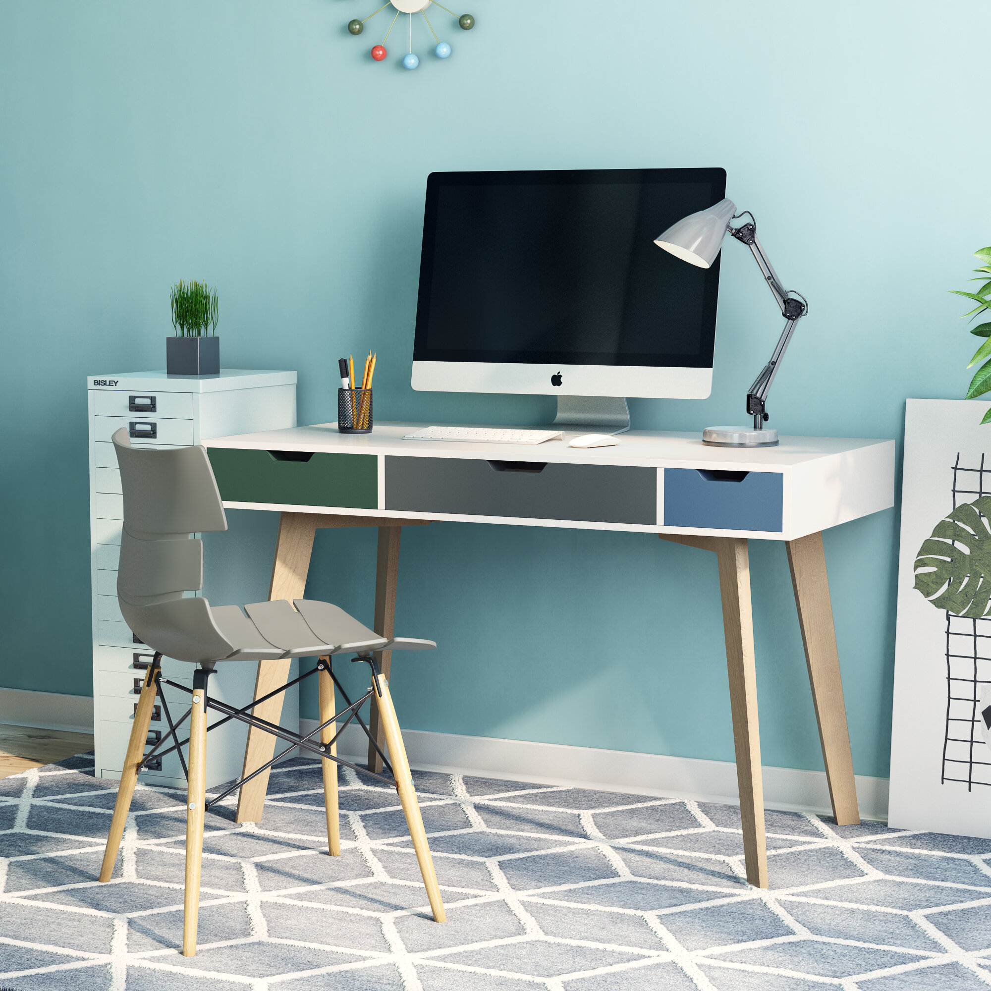 fjorde rde desk furniture pdp teal reviews leknes standing fj co uk wayfair