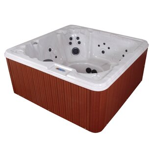 QCA Spas Martinique 7-Person 80-Jet Spa with LED Light and Ozonator