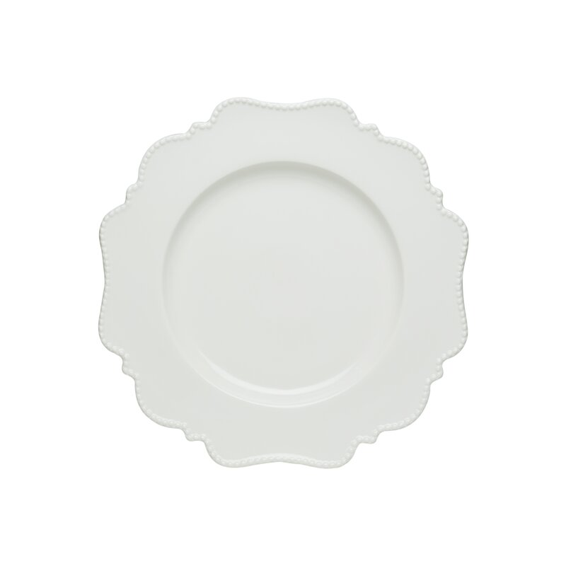 Pinpoint White Dinner Plate