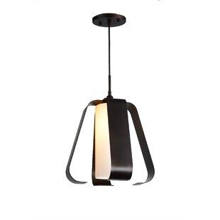 Bent 1-Light Geometric Pendant by Woodbridge Lighting