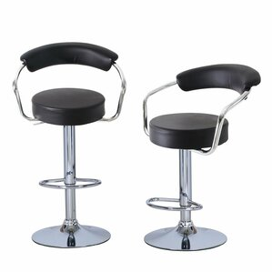 Morley Adjustable Height Swivel Low Back Bar Stool (Set of 2) by Orren Ellis