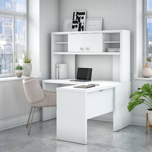 Kathy Ireland Office by Bush Echo 2 Piece L-Shaped Desk Office Suite