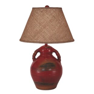 Laxton Swirl Handled Pottery 30 Table Lamp