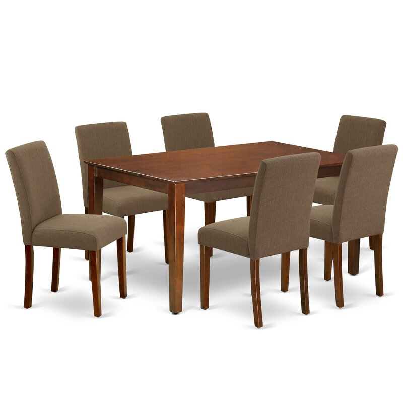 Letha 7 Piece Solid Wood Dining Set