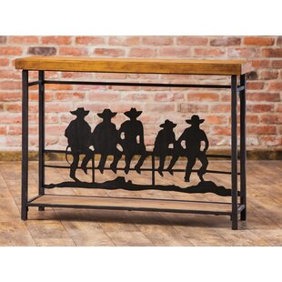 Timpanogos Cowboys On The Fence Console Table