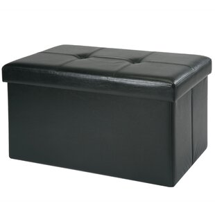 Hockett Collapsible Storage Ottoman by Winston Porter