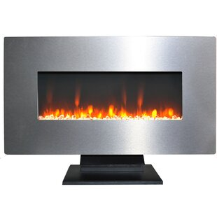 O'Gara Metallic Electric Fireplace by Orren Ellis