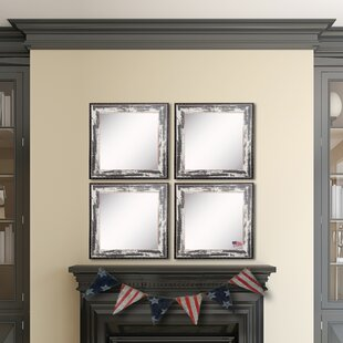 Rosecliff Heights Letendre Rustic Seaside Wall Mirror (Set of 4)