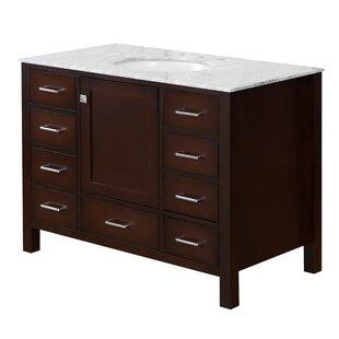 Cheshunt Full Cabinet 42 Single Bathroom Vanity Set ByThree Posts
