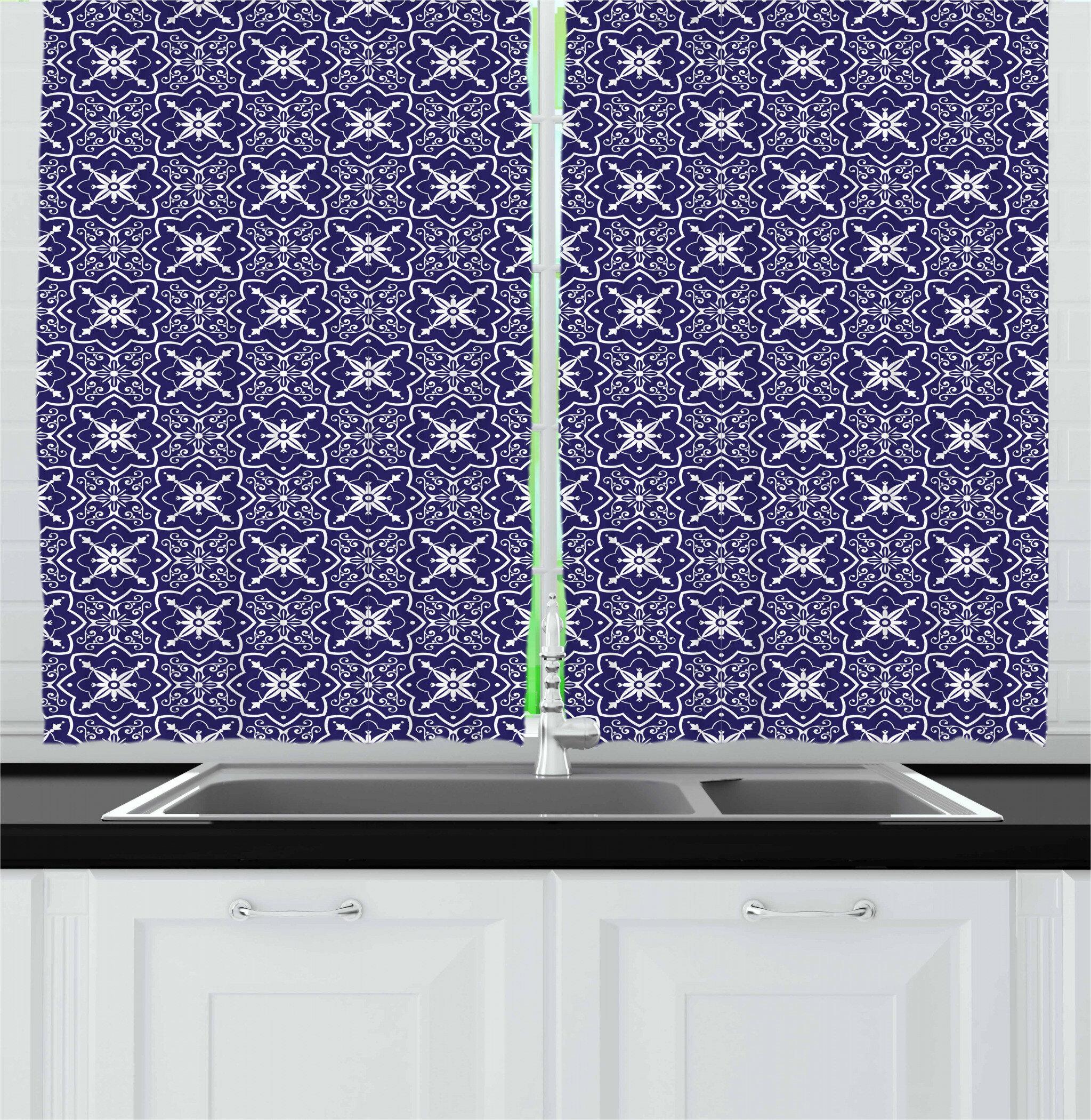 East Urban Home Dutch Kitchen Curtain Wayfair