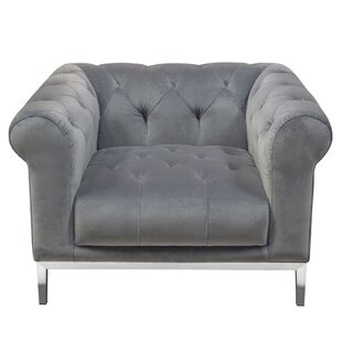 Monroe Chesterfield Chair by Diamond Sofa 2019 Sale