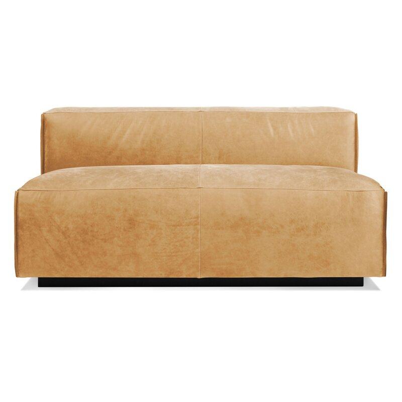Cleon 56 Armless Leather Sofa