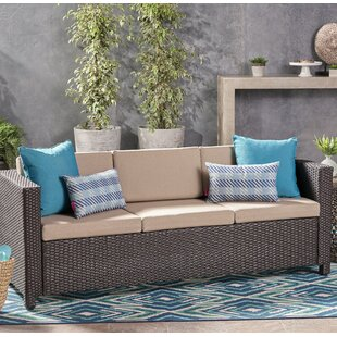 Gracie Oaks Are Outdoor Rattan Sofa Set w..