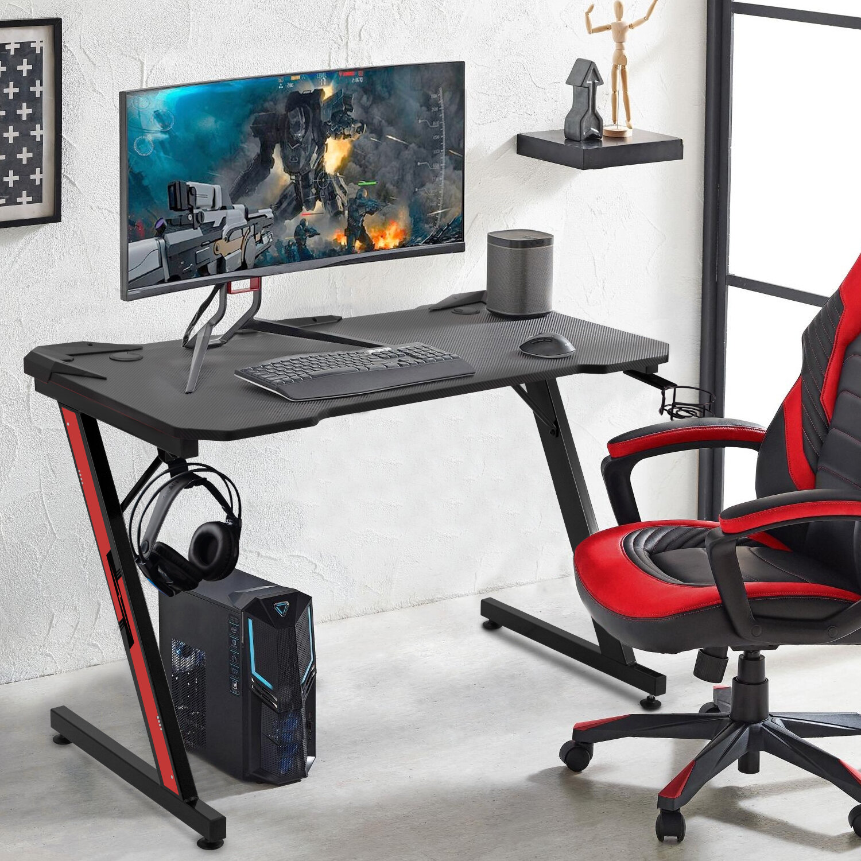 Symple Stuff Sinead Ergonomic Gaming Computer Desk Reviews Wayfair