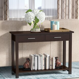 Teters 42 Solid Wood Console Table by Winston Porter