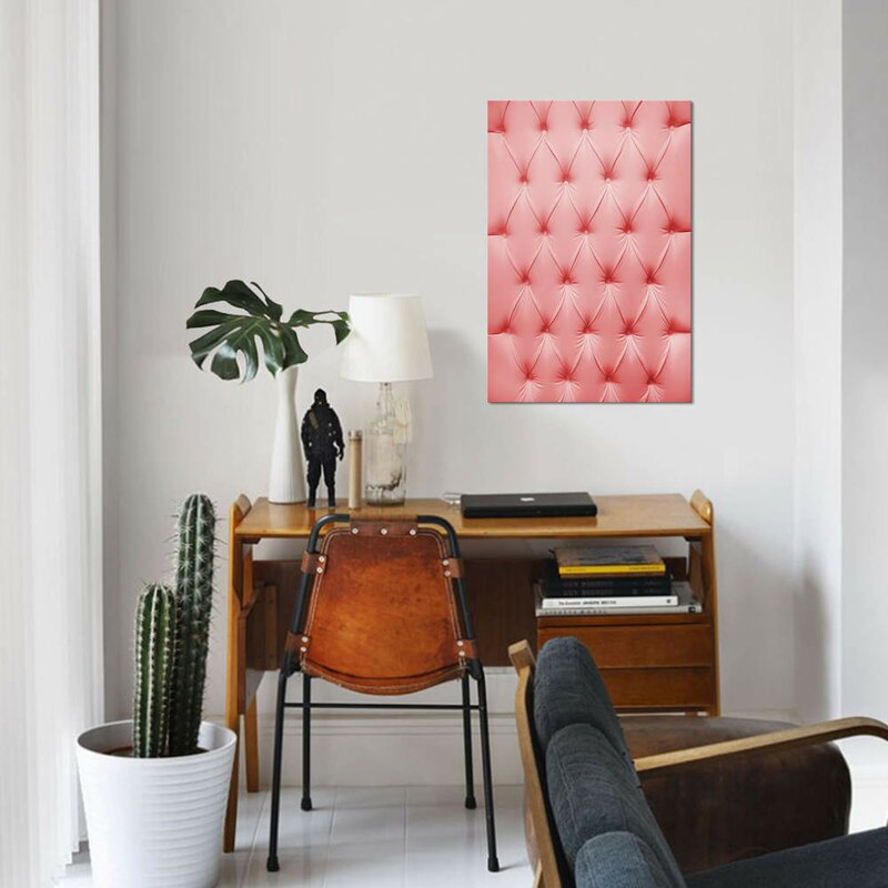 East Urban Home Pink Padded Cell Drawing Print On Canvas Wayfair