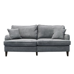 Shop Carlisle 78 Sofa with Pleated Arms by Serta at Home