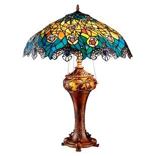 Design Toscano Art Nouveau Peacock Tiffany 27.5