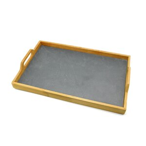 Pine Wood with Slate Insert Serving Tray