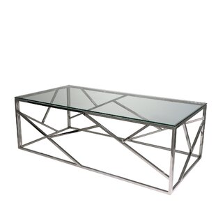 Online Reviews Stainless Steel and Glass Coffee Table by Sagebrook Home Reviews (2019) & Buyer's Guide