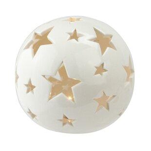 The Holiday Aisle Bonnett Starry Night Ceramic Ball Light with LED Light