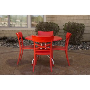 Sletten Patio 5 Piece Dining Set