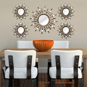 5 Piece Sunburst Mirror Set