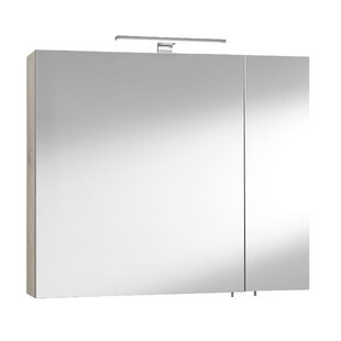Hults 80cm W X 72cm H Surface Mount Mirror Cabinet With LED Lighting By 17 Stories